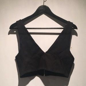 Zara Black Crop Top Size M